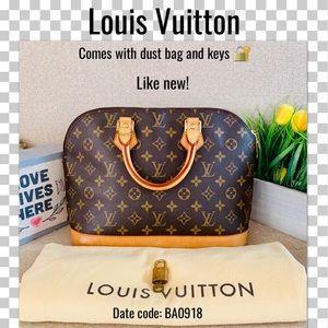 Like new Louis Vuitton Satchel bag ALMA PM MONOGRA